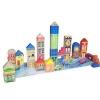 بلوک های چوبی شهر رنگارنگ