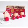 مرغ چوبی چرخدار با تخم مرغ  های غلطان